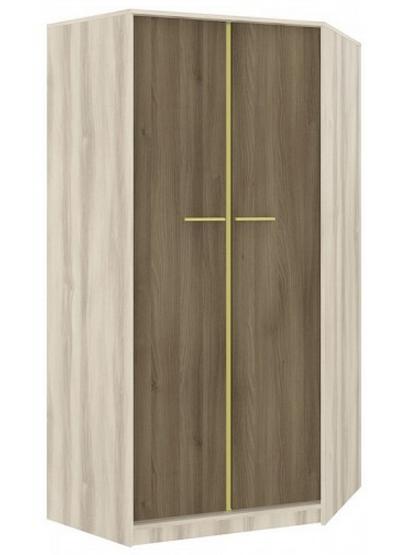Rohová šatníková skriňa GEOMETRIC 01 / BREST / AGÁT   Farba: Olivová