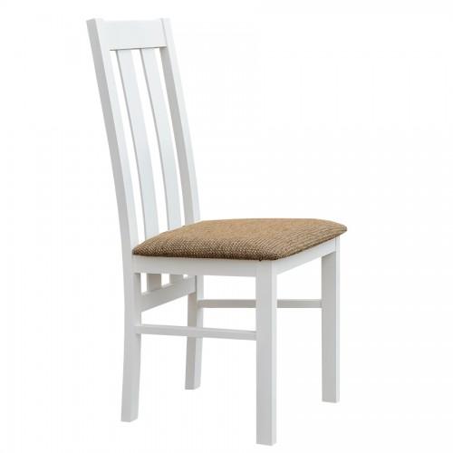 Biely nábytok Stolička Belluno Elegante 10, čalúnenie PALERMO 123