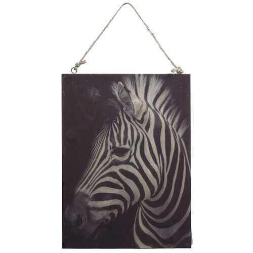 Koopman Obraz na dreve Zebra, 28,5 x 20,5 cm