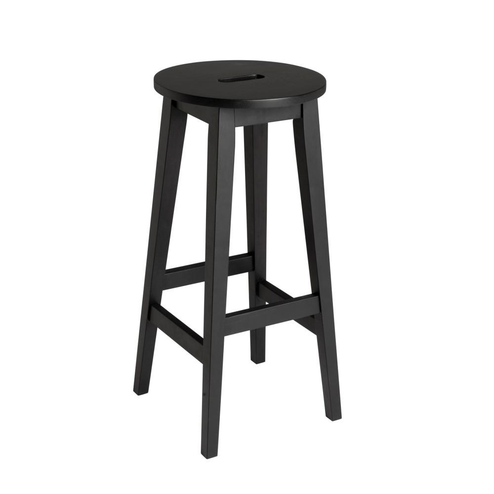 Čierna vysoká dubová stolička Folke Frigg
