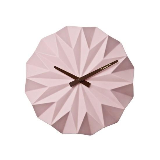 Karlsson KA5531PI Designové nástenné hodiny, 27 cm