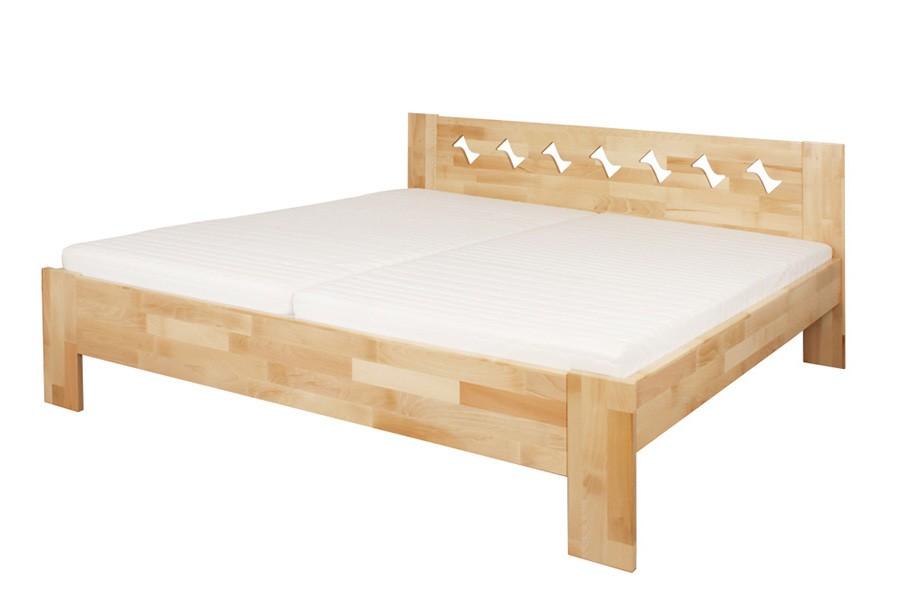 Bradop Manželská posteľ BÁRA 160 x 200, masív buk L048