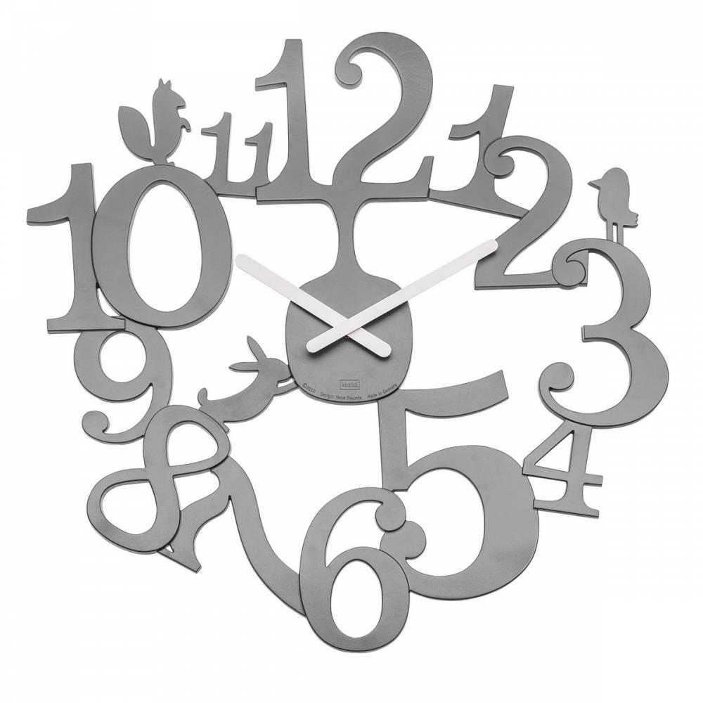 Koziol Nástenné hodiny PI:P sivá, pr. 45 cm
