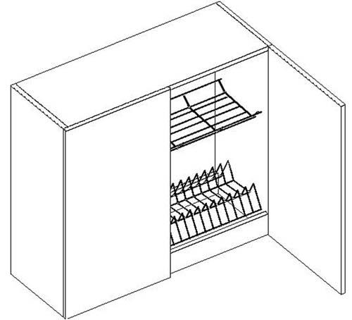W80SU horná skrinka s odkvapávačom (DARK, LATTE)