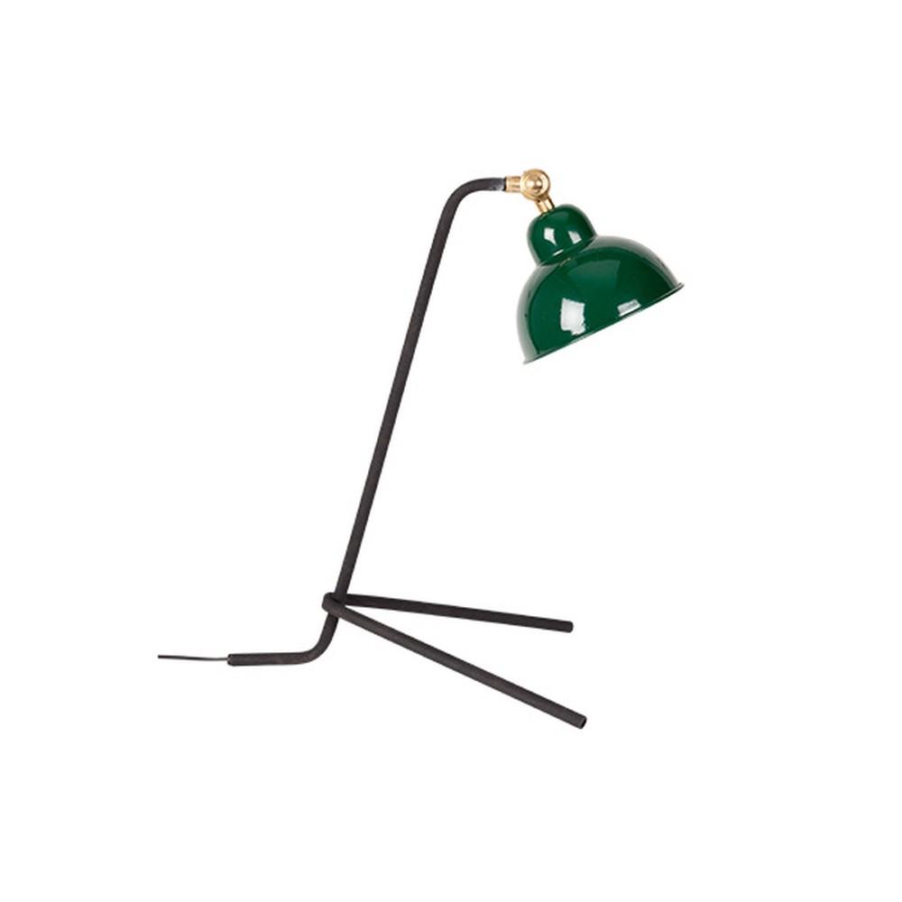 Zelená stolová lampa White Label Jock