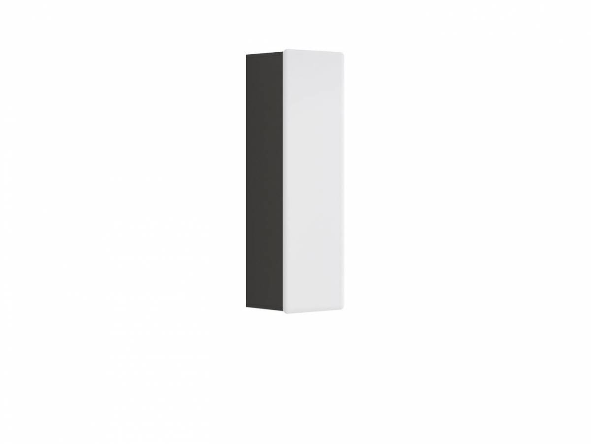 Skrinka na stenu Possi Light SFW1D/13/4 (sivý wolfram + lesk biely)
