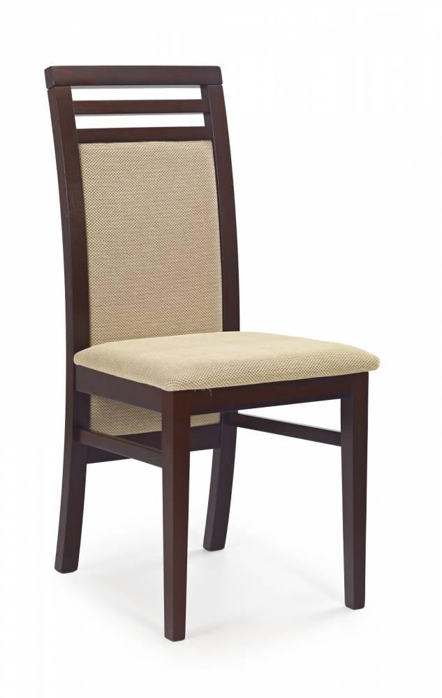 Jedálenská stolička Sylwek 4 Orech tmavý + béž