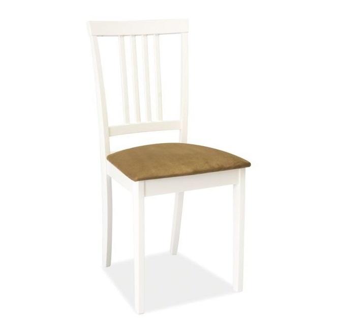 SIGNAL CD-63 jedálenská stolička - biela / béžová