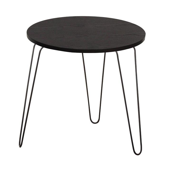 TEMPO KONDELA Príručný stolík, čierny dub/čierna, RONIN