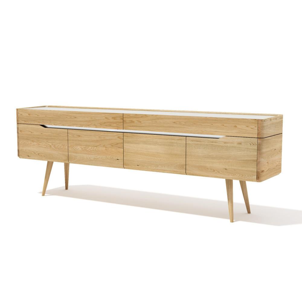 TV komoda z masívneho dubového dreva Javorina Terra, 240 cm