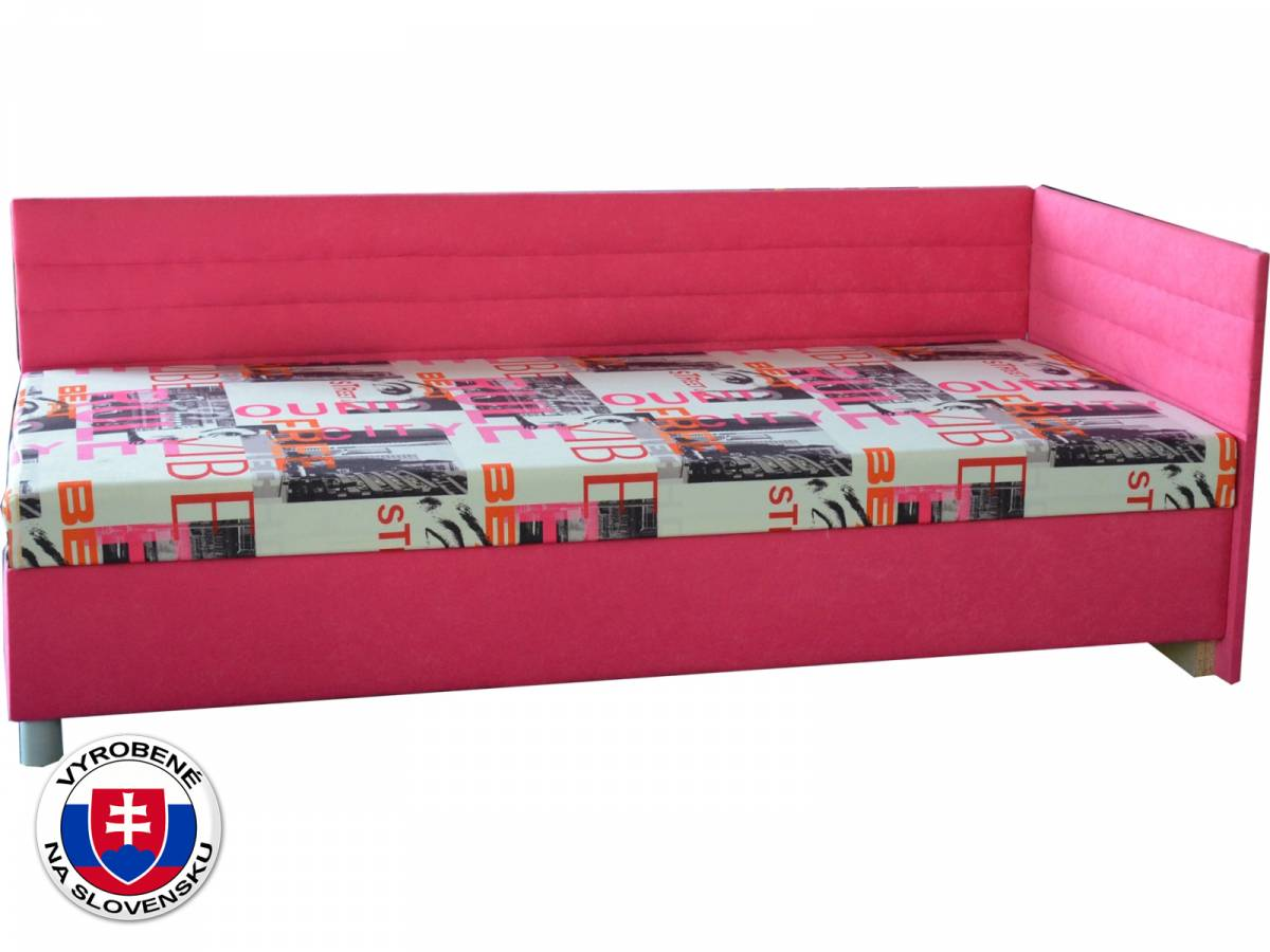 Jednolôžková posteľ (váľanda) 90 cm Etile 2 (s pružinovým matracom) (P)