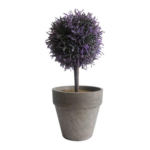 StarDeco Umelý stromček v kvetináči fialová, 27 cm