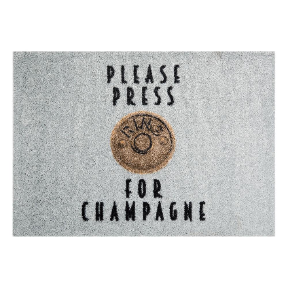 Sivá rohožka Mint Rugs  StateMat Please Press, 50x75cm