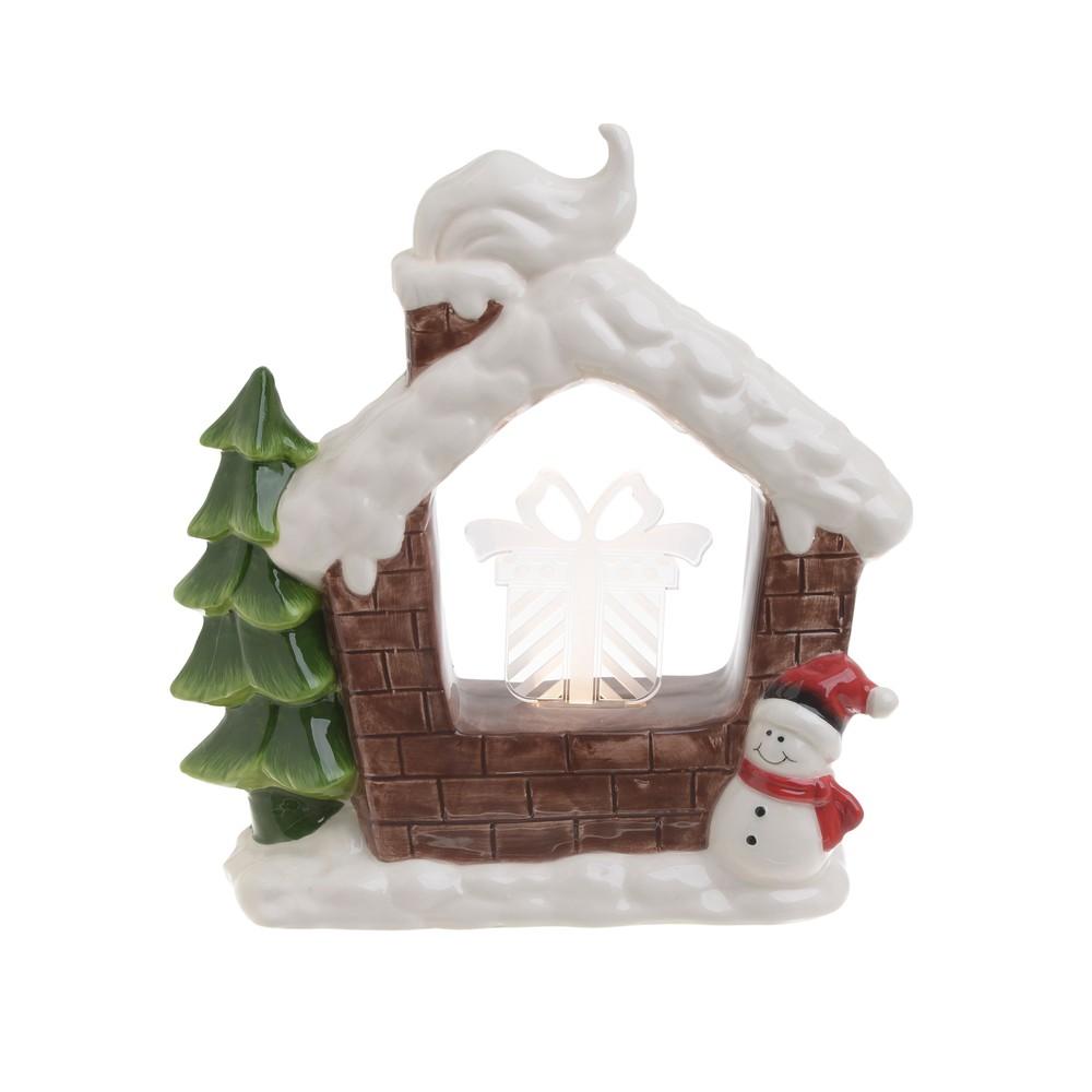 Vianočná keramická svetelná dekorácia v tvare domčeka InArt Sophie