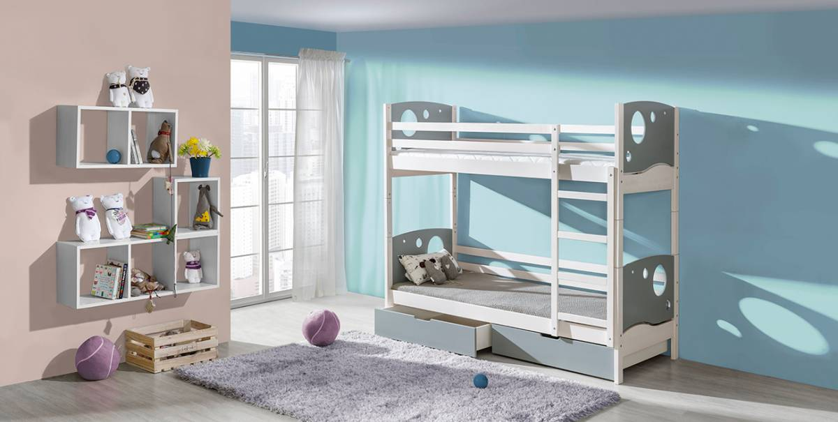 KEVIN poschodová posteľ s úložným priestorom