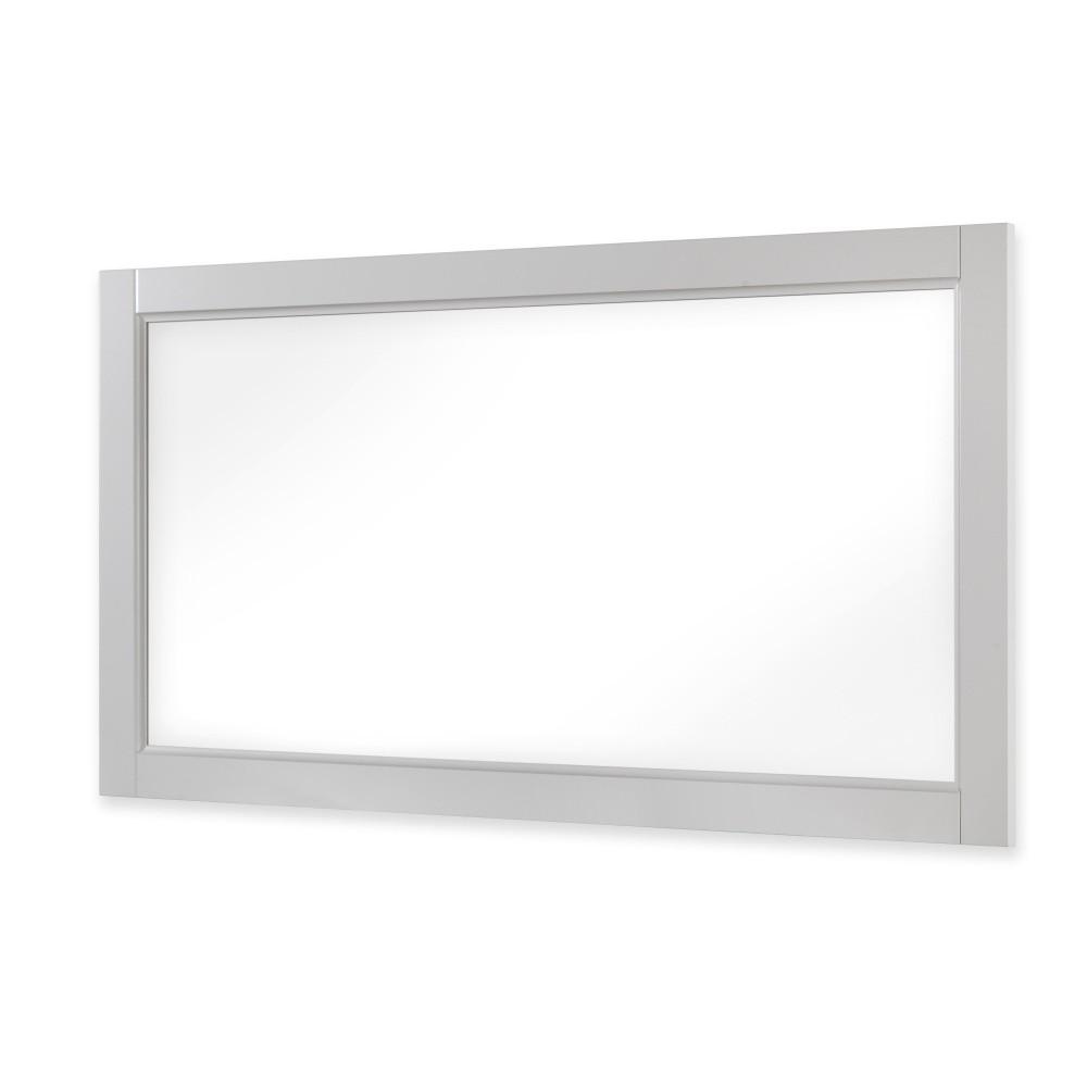 Biele zrkadlo Drevotvar Ella
