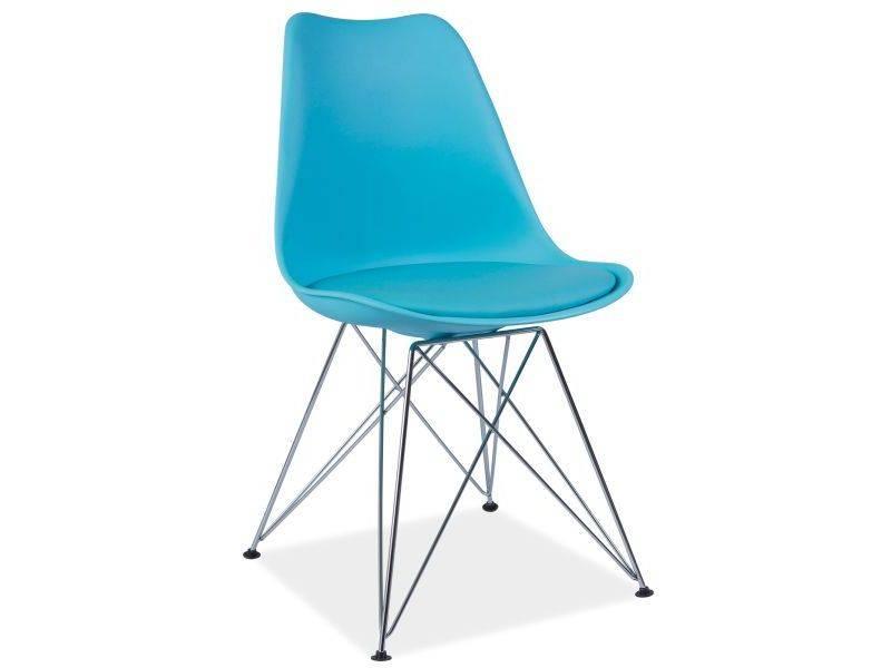 SIGNAL TIM jedálenská stolička - modrá