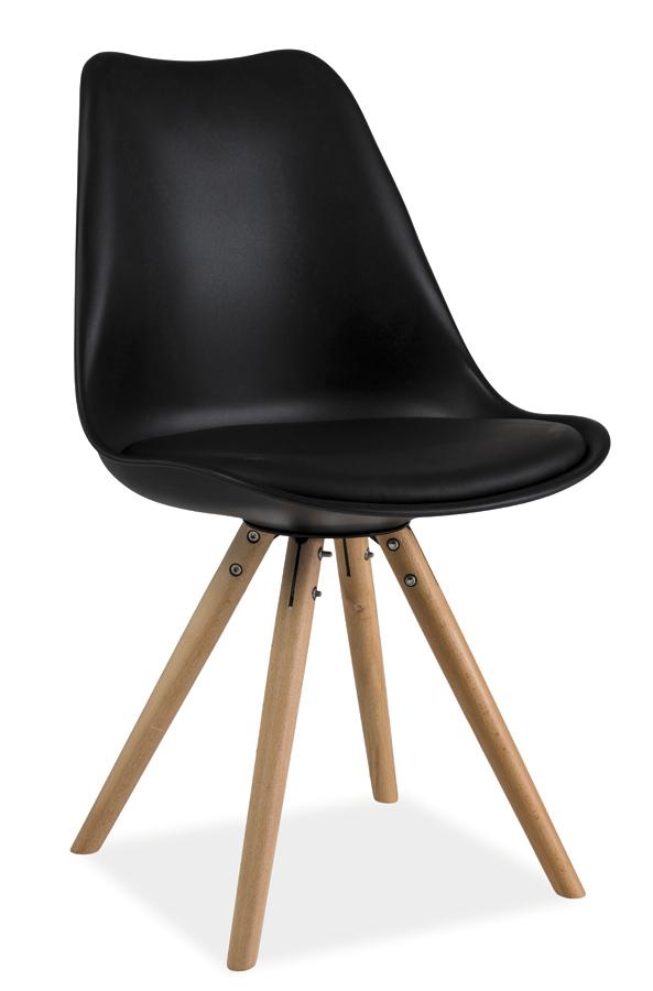 ERIK jedálenská stolička, buk/čierna