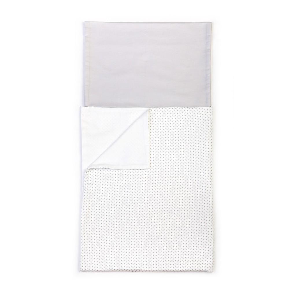 Detské sivé bavlnené obliečky YappyKids Shades, 100×135 cm
