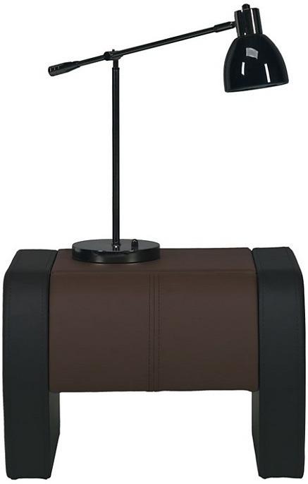 BOG-FRAN NAOMI ST4-NA nočný stolík - hnedá / čierna