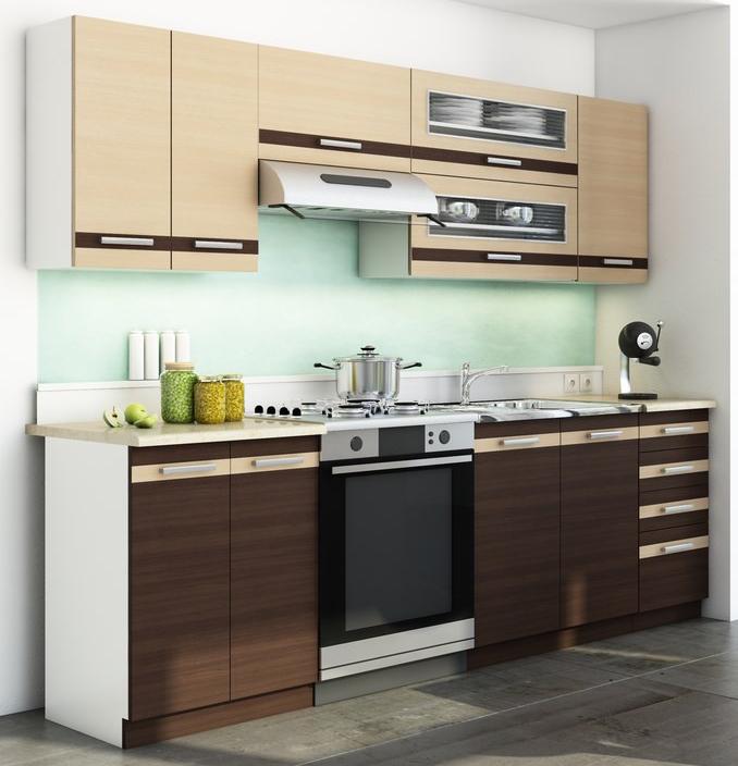 Kuchyňa DARK LATTE BIS 240 cm MOB-4205