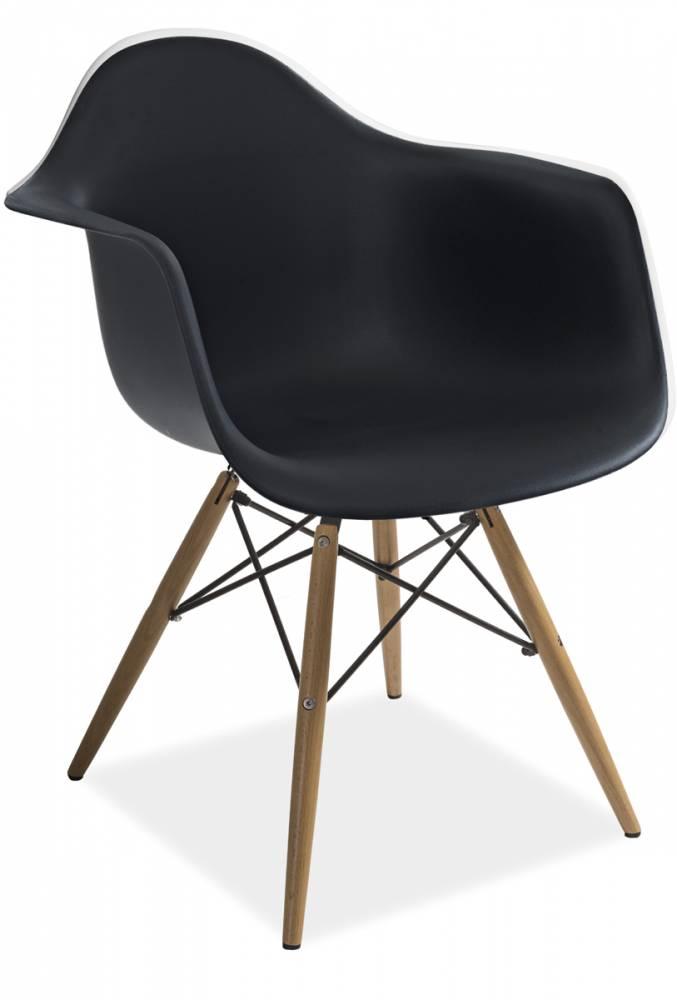 Stolička MONDIS, buk/čierna