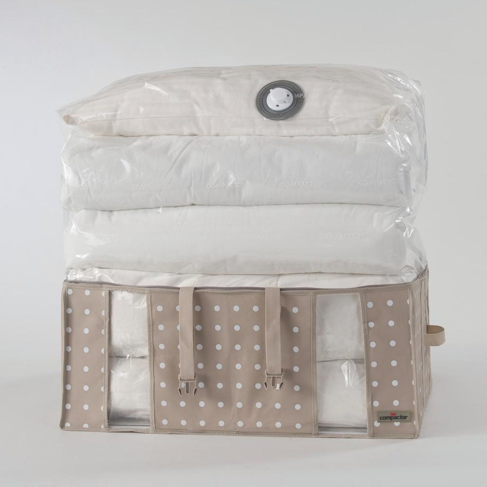 b7ccbf495 Béžový úložný box s vákuovým obalom Compactor Rivoli, objem 210 l