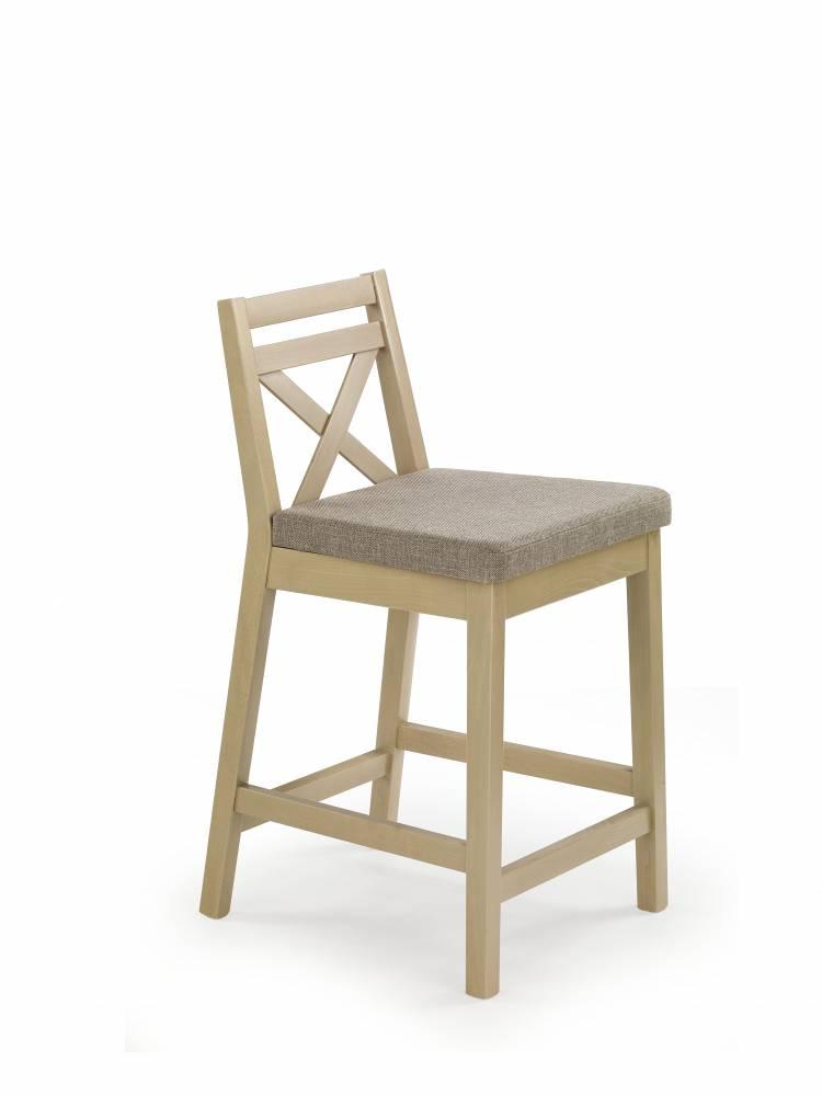 Jedálenská stolička Borys Low (dub sonoma + hnedá)