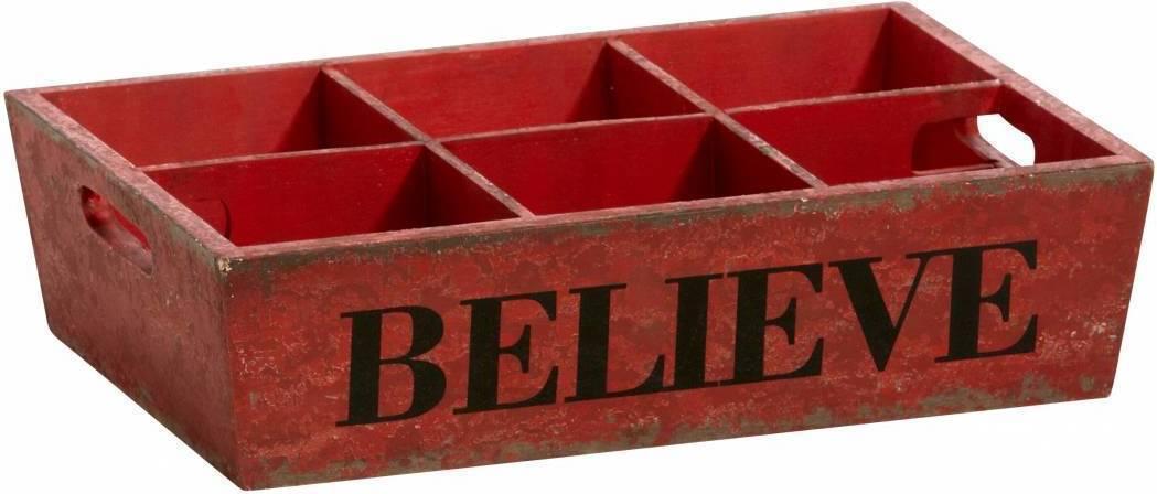 Podnos BELIEVE - červená