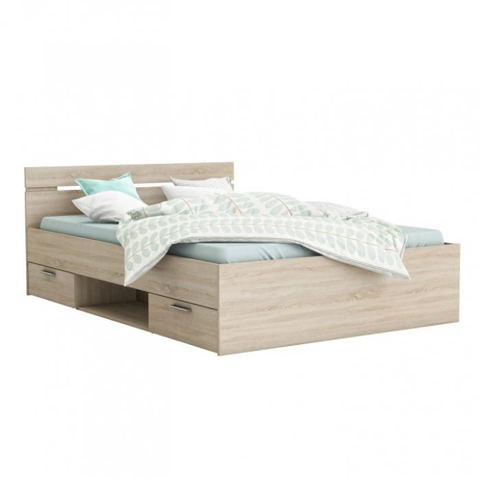 TEMPO KONDELA MICHIGAN 160 manželská posteľ - dub sonoma