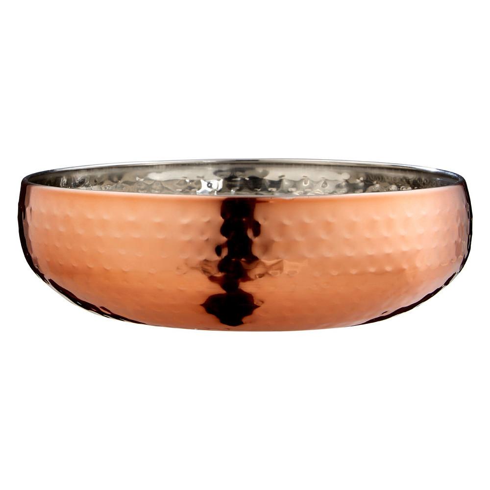 Okrasná misa vo farbe ružového zlata Premier Housewares Hammered, ⌀21 cm