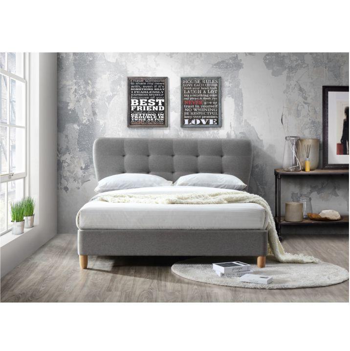 Manželská posteľ s roštom, 160x200, NORIKA