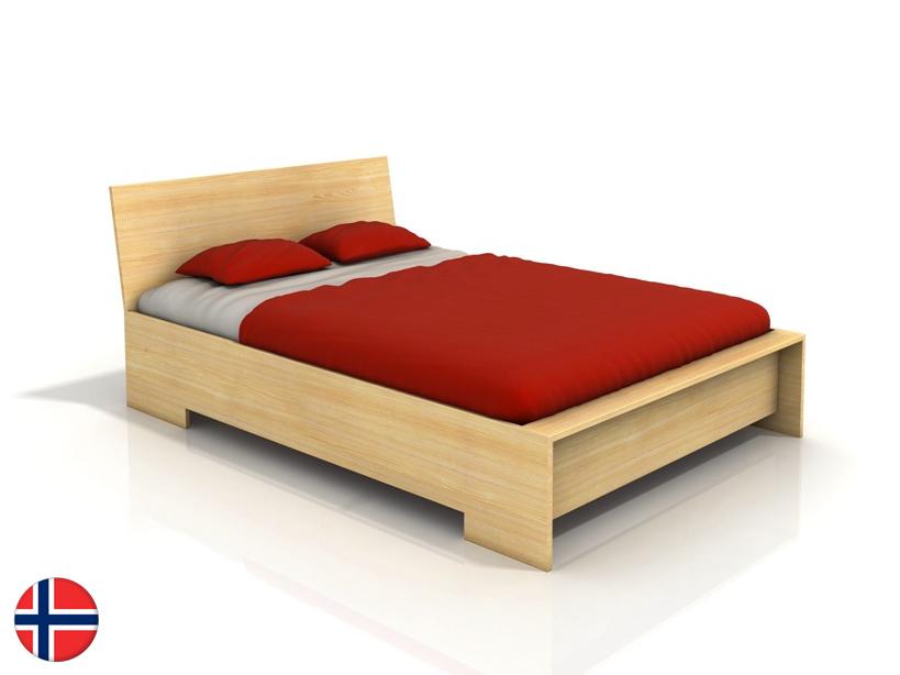 Manželská posteľ 180 cm Naturlig Lekanger High (borovica) (s roštom)