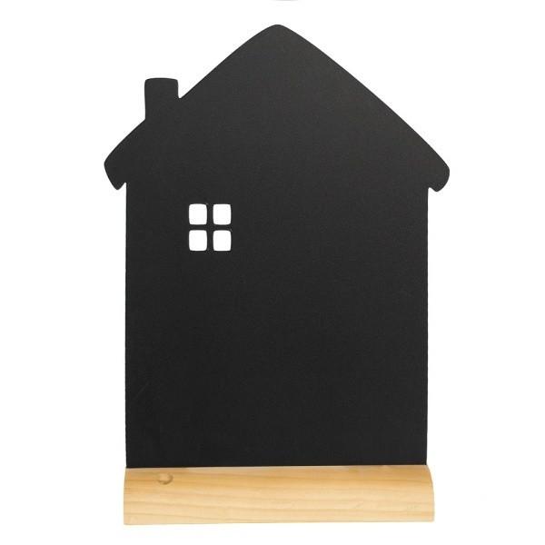 Tabuľa na písanie na drevenom stojane skriedovým popisovačom Securit Silhouette House, 33x21cm