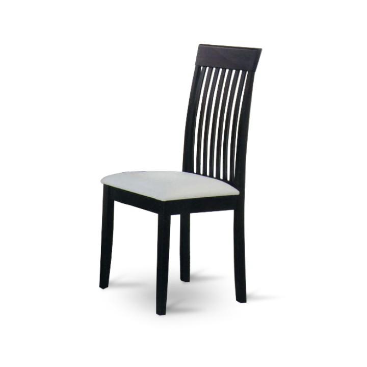 TEMPO KONDELA ASTRO jedálenská stolička - wenge / biela