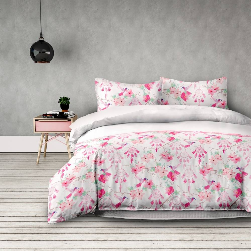 DecoKing Flanelové obliečky Sweet Dreams, 200 x 220 cm, 2 ks 70 x 90 cm