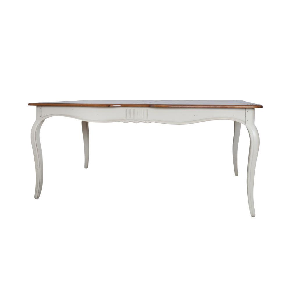 Krémový jedálenský stôl z brezového dreva Livin Hill Verona