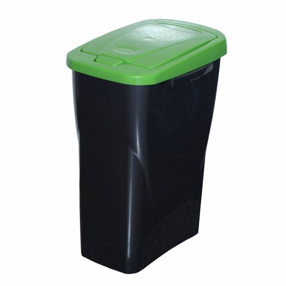 Kôš na triedený odpad 42 x 31 x 21 cm, zelené veko, 15 l