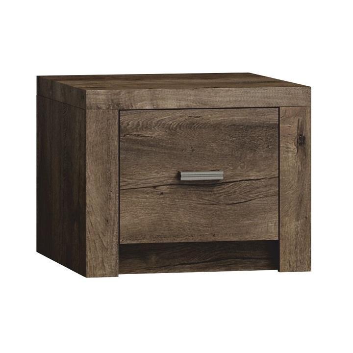TEMPO KONDELA Nočný stolík, DTD laminovaná, jaseň tmavý, INFINITY