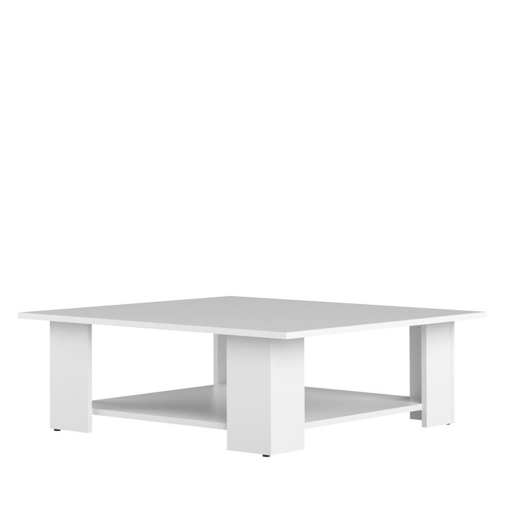 Biely konferenčný stolík Symbiosis Square, 89 × 89 cm