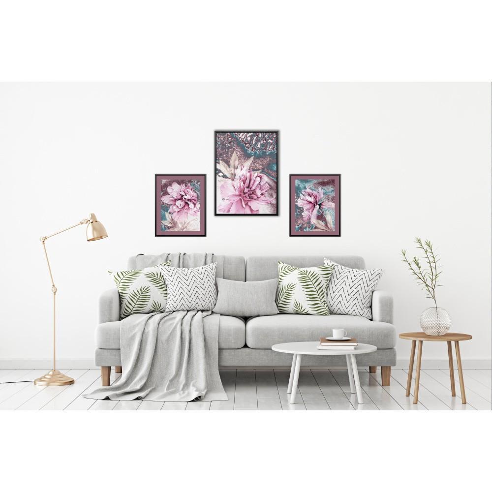 Sada 3 nástenných obrazov Tablo Center Orchid
