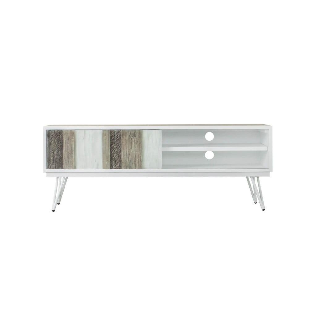 Hnedo-biely TV stolík sømcasa Niza, šírka 150 cm