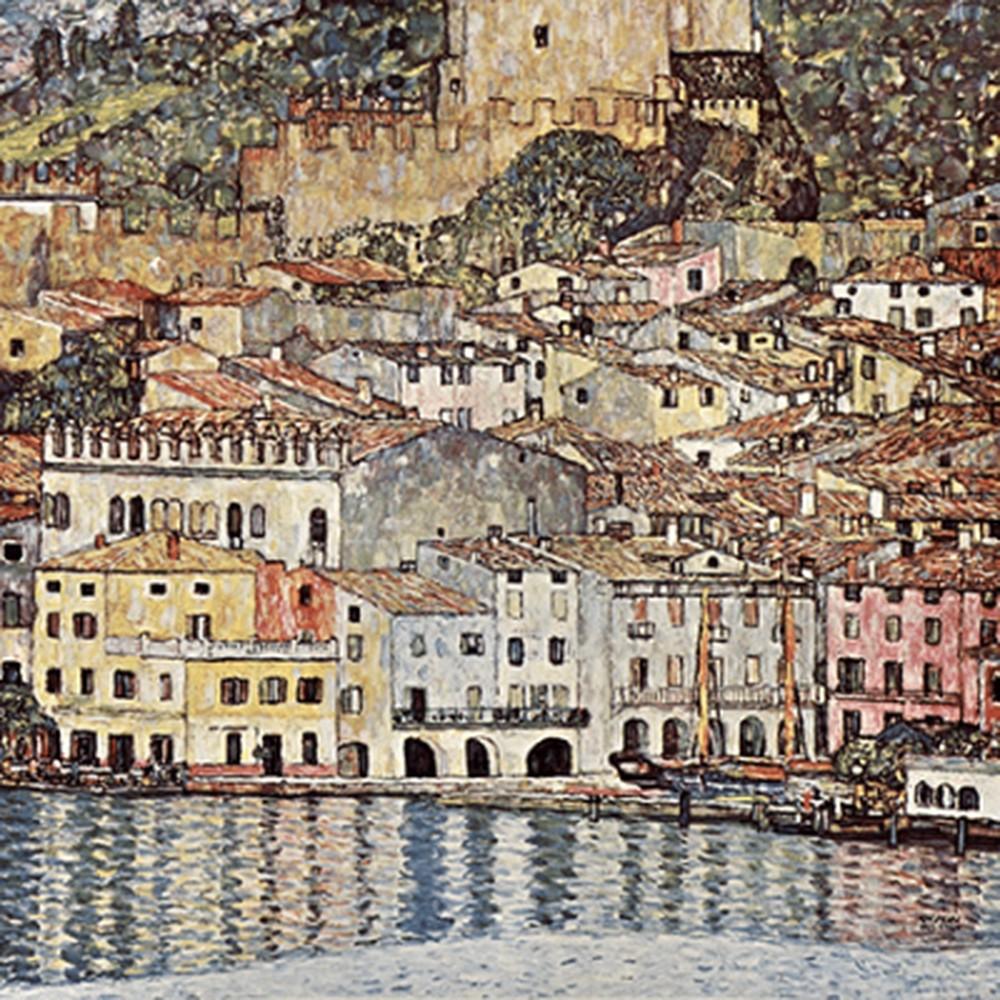 Obraz Gustav Klimt - Malcesine on Lake Garda, 60x60cm