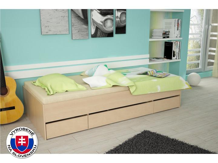 Jednolôžková posteľ 90 cm Matiasi (buk)