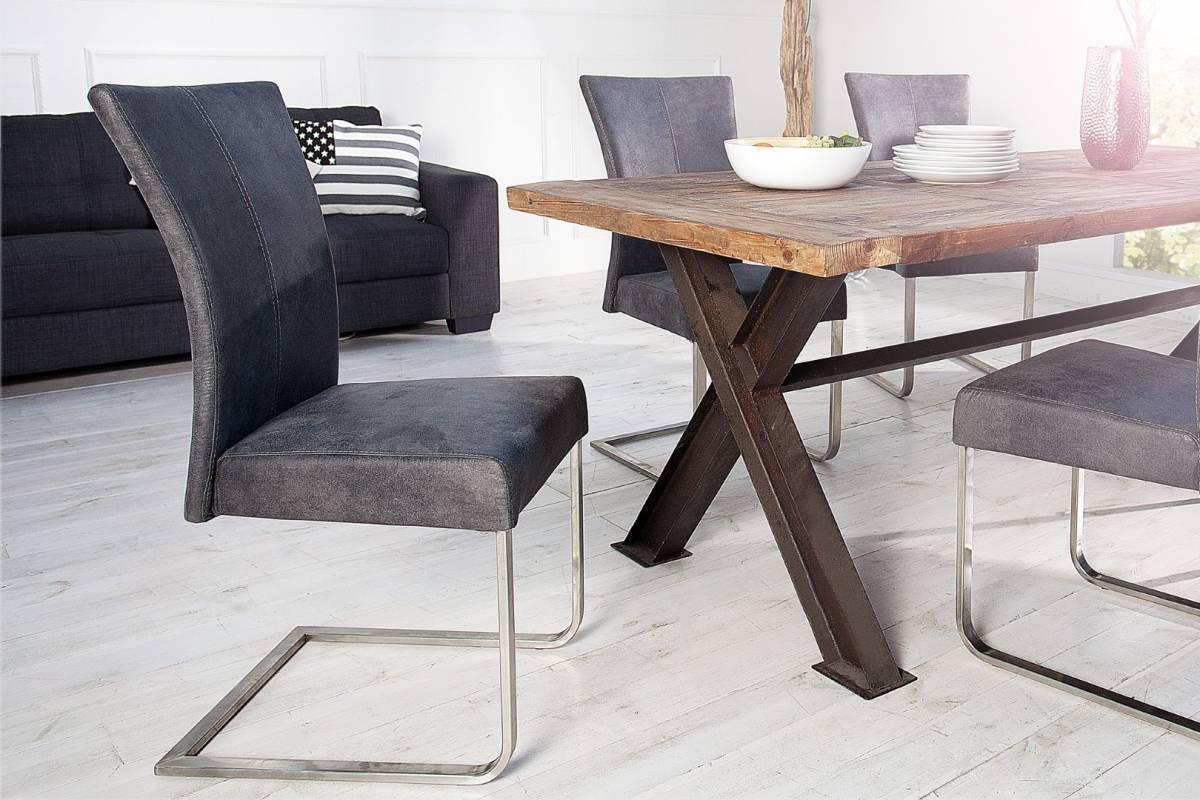 Jedálenská stolička HERKULES - sivá