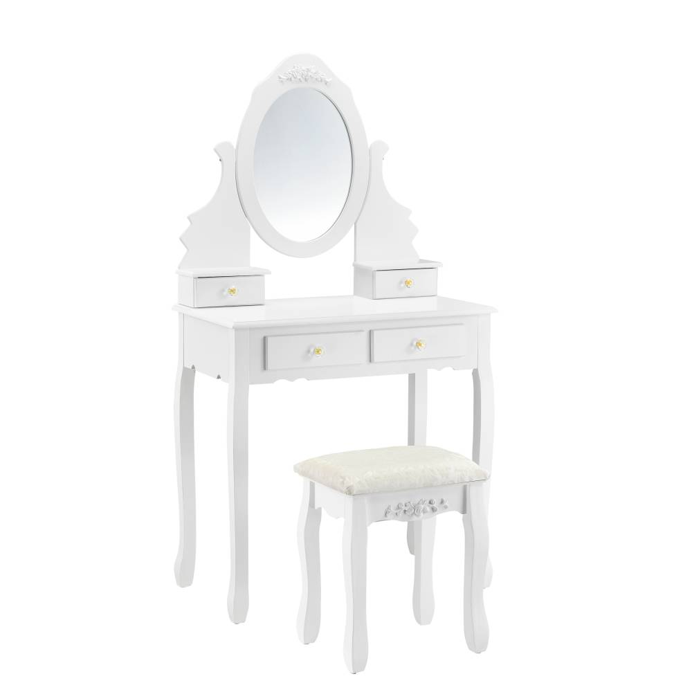 [en.casa]® Toaletný stolík AAWM-1901