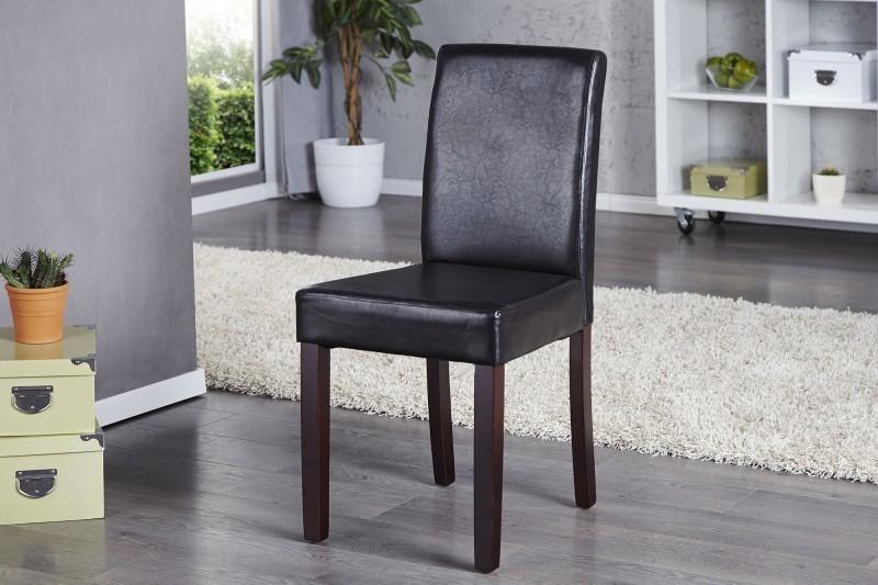Jedálenská stolička GENUDA Antik look - tmavá kávová
