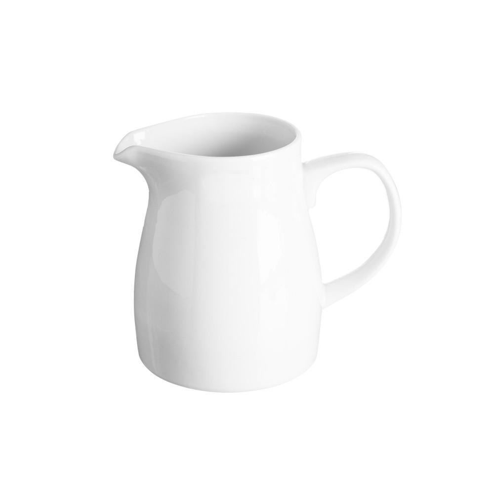 Biela nádoba na mlieko z porcelánu Price&Kensington, 620 ml