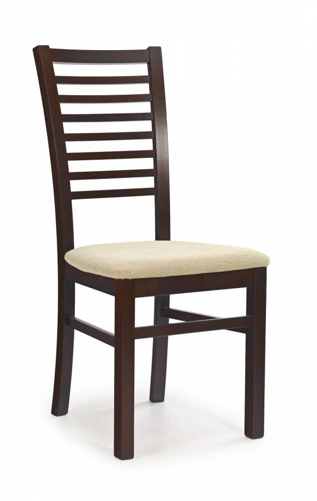 Jedálenská stolička Gerard 6 Orech tmavý + béžová