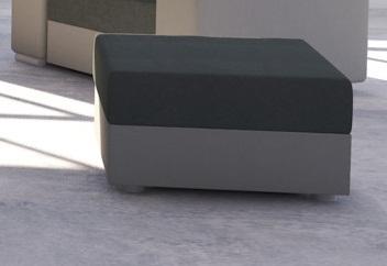Taburetka AVARA čierna/šedá